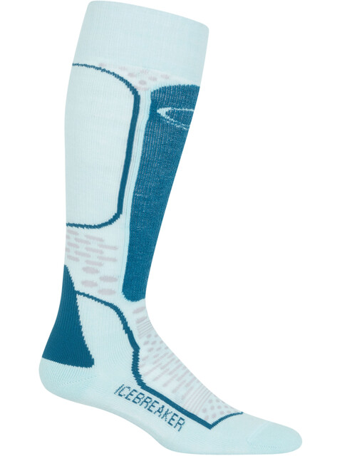 Icebreaker Ski+ Light OTC Socks Women dew-smoke-kingfisher